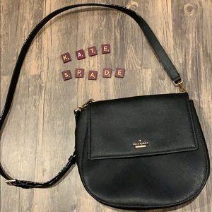 Kate Spade classic black saddle purse